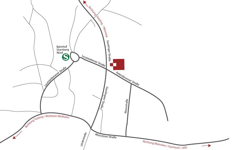 Steuerberatung Dietloff und Oettinger in Starnberg, Gautinger Straße 10 – Anfahrtskizee